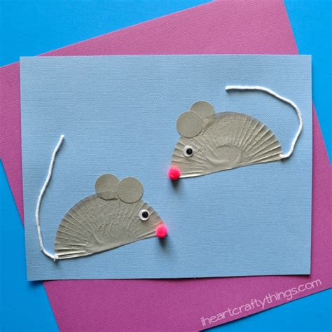 Mouse Paper Craft - cupcake liner mouse craft i crafty things