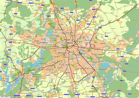 berlin map of germany berlin map size
