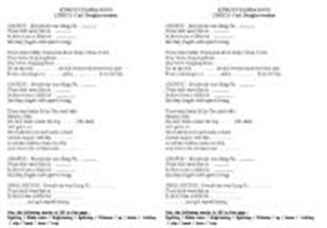 printable lyrics to kung fu fighting english worksheets kung fu panda song quot everybody was kung
