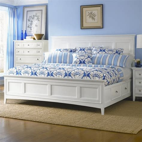 magnussen kentwood bedroom set kentwood panel bed with storage in white b1475 54pkg 1