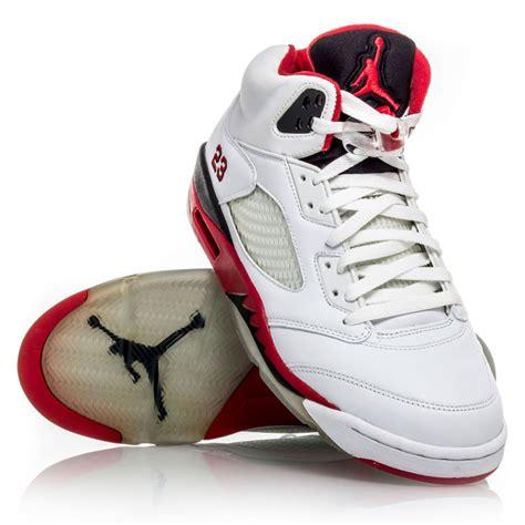 air 5 retro basketball shoes air 5 retro mens basketball shoes white