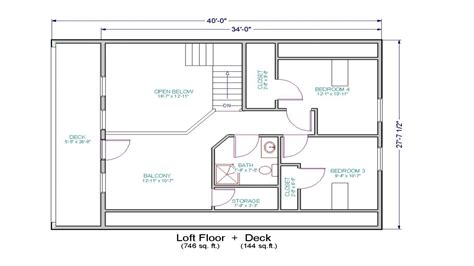 Small Cabin Floor Plans With Loft Simple Small House Floor Plans Small House Floor Plans With Loft Loft House Plan Mexzhouse