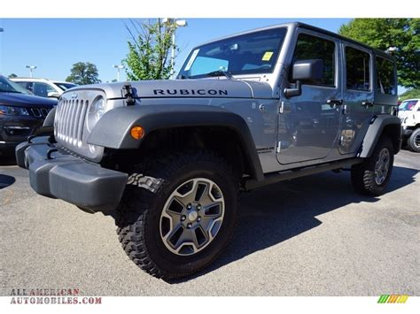 2017 silver jeep rubicon 2017 jeep wrangler unlimited rubicon 4x4 in billet silver