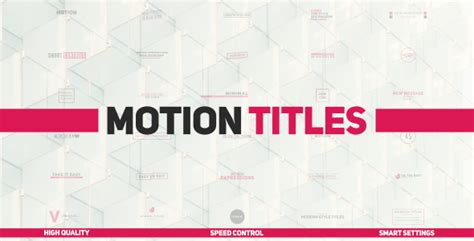Motion Titles Corporate After Effects Templates F5 Design Com Motion Title Templates
