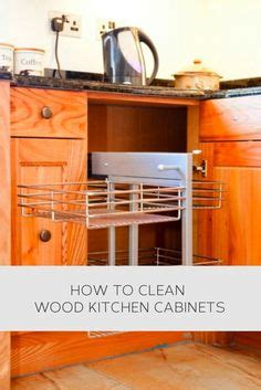 household tips on cleaning wood cabinets