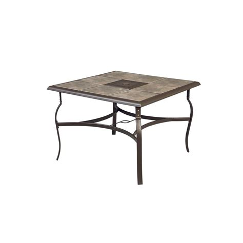 Tile Patio Table Hton Bay Belleville 40 In Square Patio Dining Table Fts80581 The Home Depot