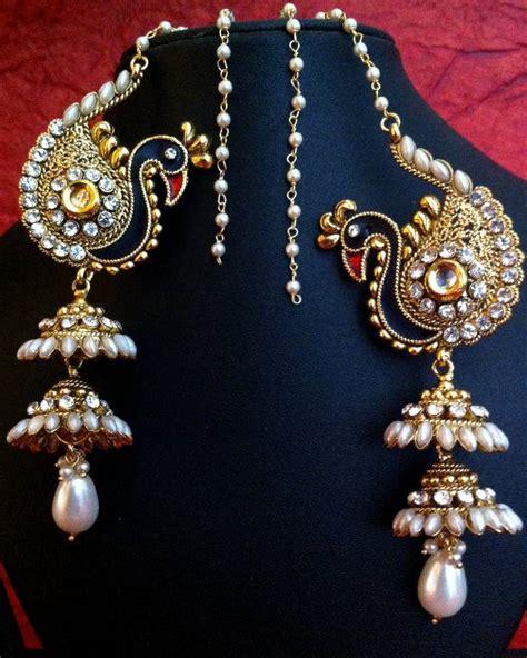 Lamps Home Decor buy peacock motif kashmiri jhumka adiva earring india