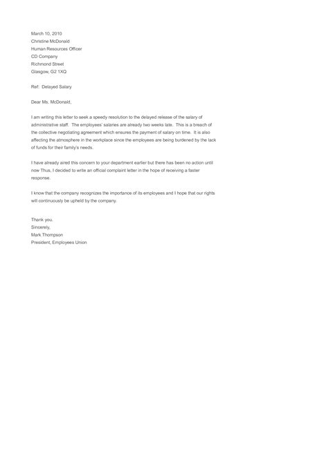 sample employee complaint letter templates