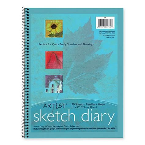 sketch book 8 5 x 11 pacon art1st sketch diary 8 5 quot x 11 quot quickship