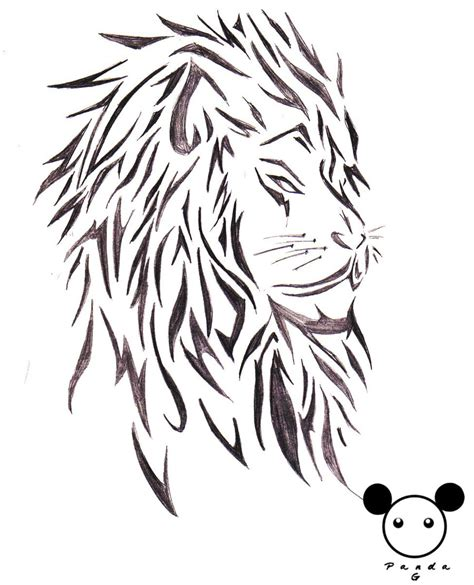 tribal lion head tattoos images designs