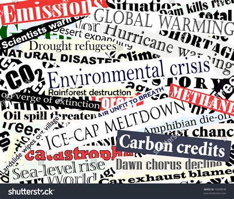 newspaper theme html illustration of newspaper headlines on an environmental