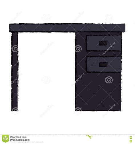 icona ufficio icona nera dei cassetti dell ufficio dello scrittorio