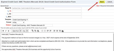 credit card payment email template custom application expired credit cards customer payment