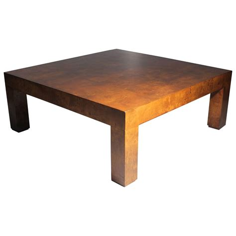 Parsons Coffee Table Milo Baughman Burl Patchwork Parsons Coffee Table For Sale