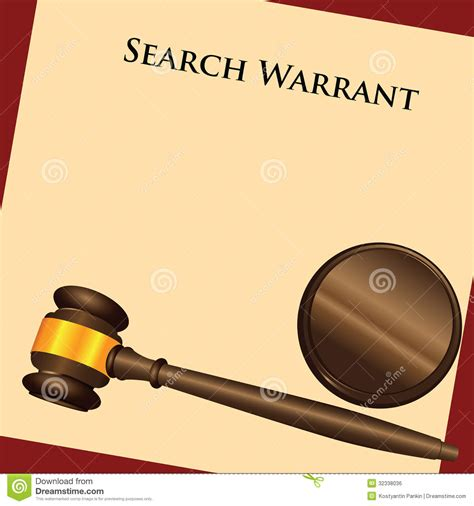 Search Warrant Laws Search Warrant Royalty Free Stock Image Image 32338036