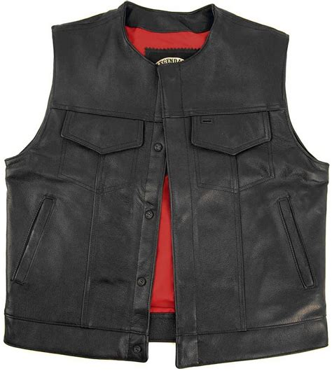 leather biker vest legendary brotherhood mens leather motorcycle vest with