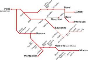 Tgv Route Map by Route Map For Tgv Lyria France Switzerland Trainline