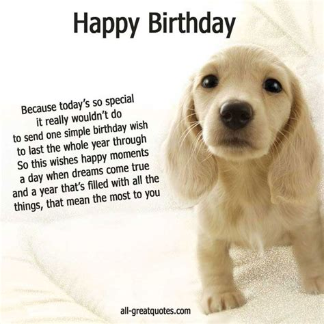 puppies happy birthday happy birthday cards cute puppy picture my better half happy birthday
