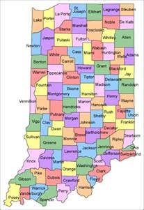 county in map maps indiana county map