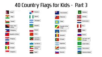names of countries in and 40 country flags with names for part 3 hd