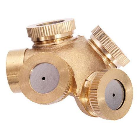 Rotate Sprinkler Spray Nozzle Air Irigasi Taman Copper 1 2 Inch sprinkler nozzle irigasi spray dengan 4 lubang semprotan sekaligus untuk hasil penyiraman