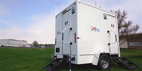 comforts of home restroom trailers on site companies prestige luxury bathroom trailer rental