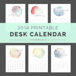 2014 desk calendar template printable 2014 desk or wall calendar planner pdf by