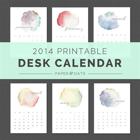2014 desk calendar template printable wall calendar calendar template 2016
