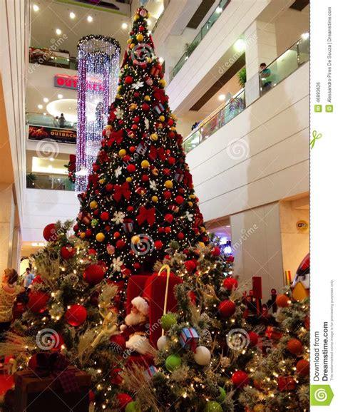 big christmas tree editorial photo image of jesus family