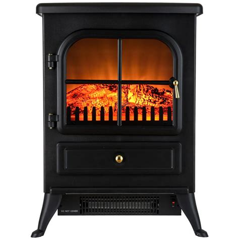 akdy 15 in freestanding electric fireplace stove heater