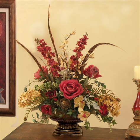 decorative floral arrangements home custom designs floral home decor silk flowers silk