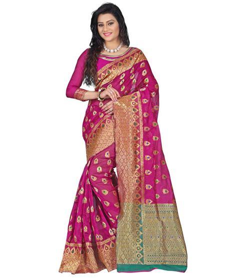 Azara Diskon azara lifestyle pink silk saree buy azara lifestyle pink
