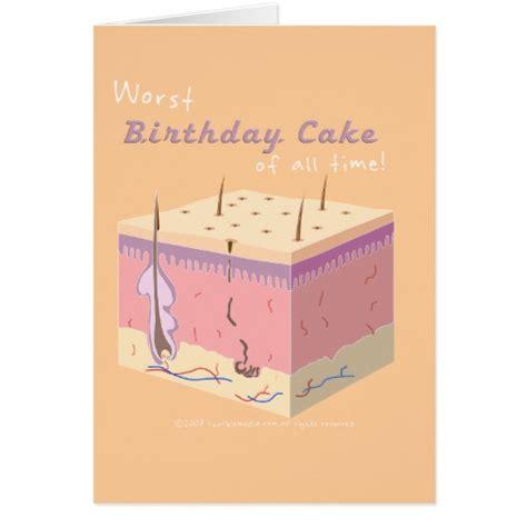 Horrible Birthday Cards Worst Birthday Cake Card Zazzle