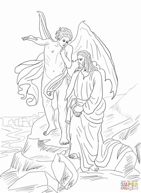 coloring pages jesus tempted desert click the jesus tempted in desert coloring pages