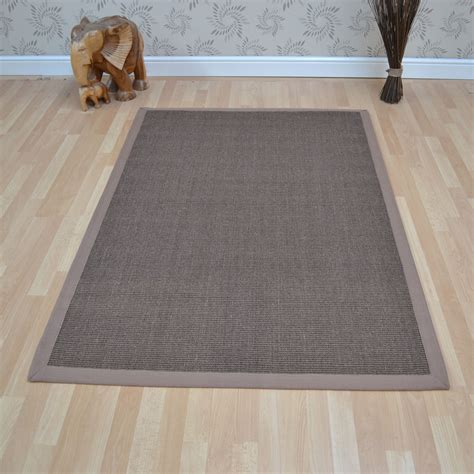 mocha rugs uk sisal rugs in mocha with taupe border free uk delivery