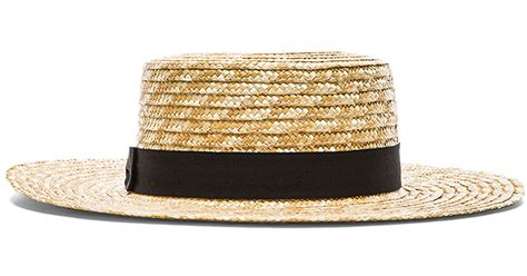 lack of color hats lack of color the spencer boater hat in brown lyst