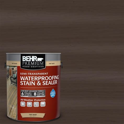 behr premium 1 gal st 103 coffee semi transparent waterproofing stain and sealer 507701 the