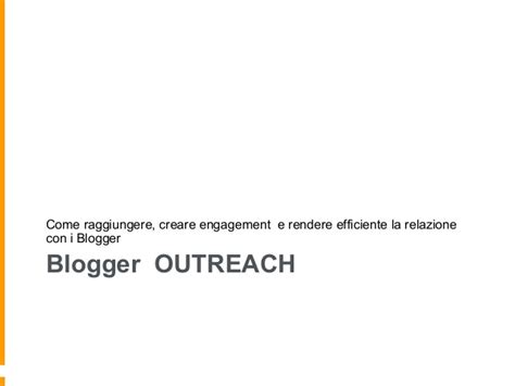 blogger outreach definire un programma di blogger outreach