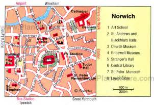 Norwich England Map by Norwich Map