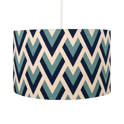 geometric pattern drum l shade blue arrow geometric lshade by hunkydory home