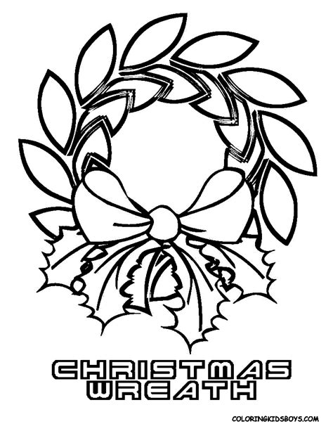 coloring pages of christmas reefs wreaths and candles coloring pages