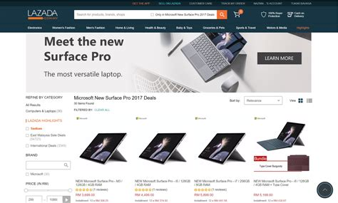 Microsoft Surface Pro 3 Di Malaysia tablet microsoft surface pro terbaru kini boleh dibeli di lazada bermula pada harga rm3699 amanz