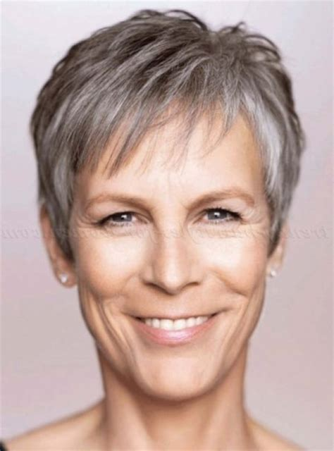 haircut deals knoxville jamie lee curtis with silver hair classy and very short