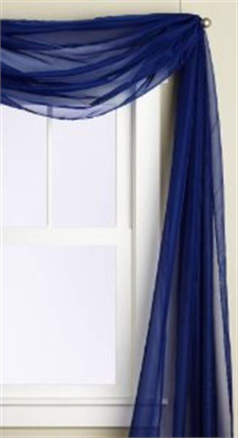 Navy Scarf Valance Beautiful Voile Sheer Valance Scarf