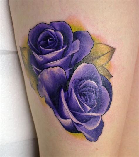purple rose tattoos realistic purple roses by alan aldred tattoos