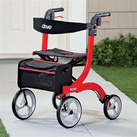 drive nitro rollator drive nitro rollator 4 wheel rollator walker miles