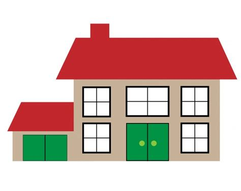 house illustration clipart free stock photo