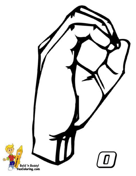 free asl numbers coloring pages