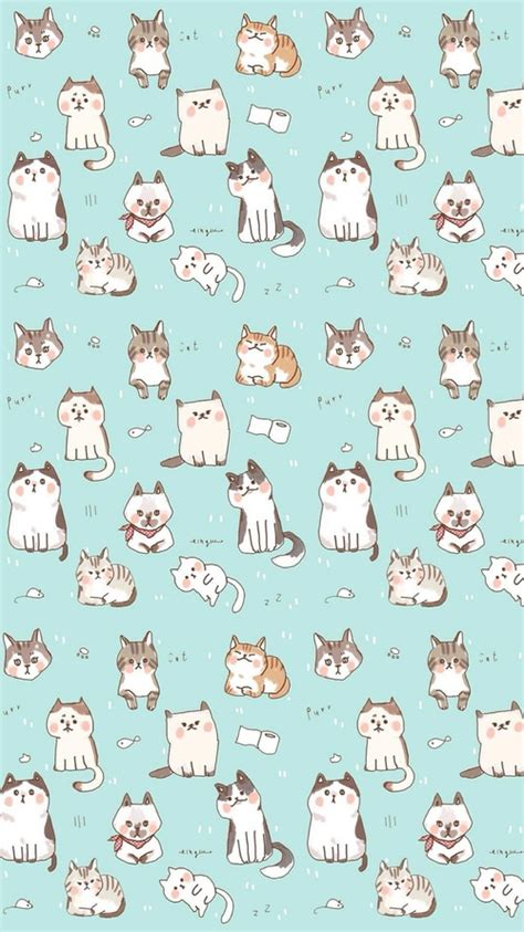 cute pattern cats kawaii cat find more funky patterns for your iphone