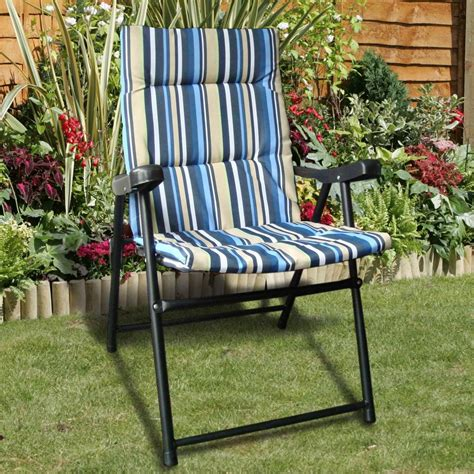 Ebay Patio Chairs Padded Folding Outdoor Garden Cing Picnic Chair Patio Seat New Ebay